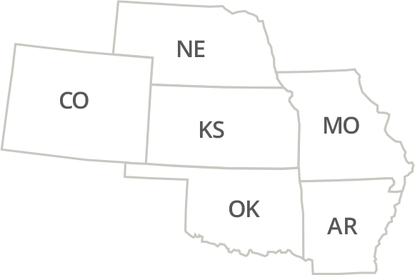 Kansas, Missouri, Oklahoma, Arkansas & Colorado