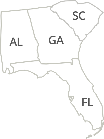 Florida, Georgia, Alabama & South Carolina