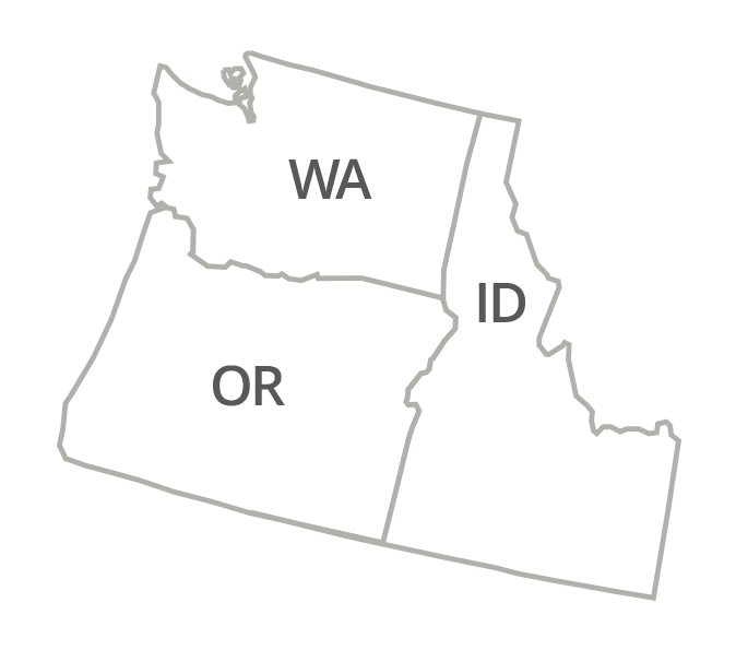 Washington, Oregon, Idaho