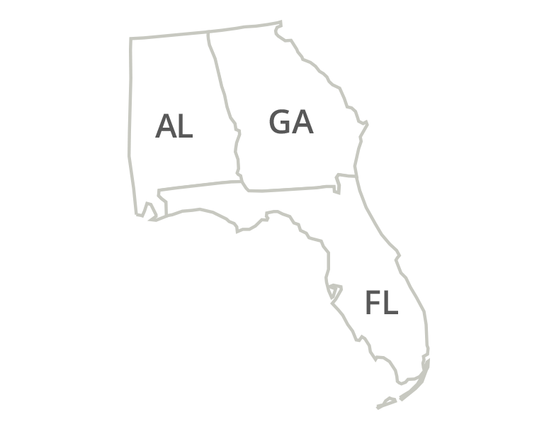 Florida, Georgia, & Alabama